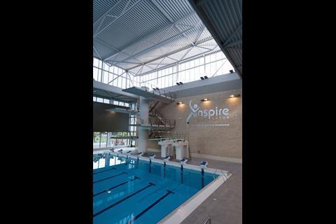 Luton Acquatics Centre diving platforms